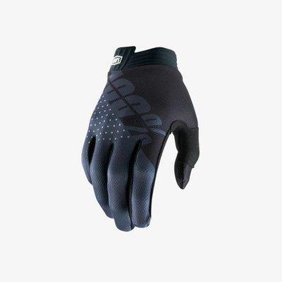100% handschoen iTrack - Zwart / Charcoal (jeugd)
